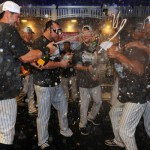 SPORTS/NEW YORK: YANKEES WIN THE AL EAST!