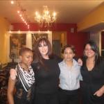 The Christo staff who made Karen presentable: Kenecia, Rosa, and Christina.